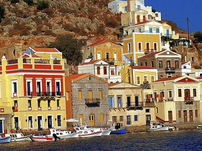 The elegant abodes of Symi